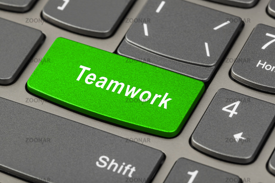Computer notebook keyboard with Teamwork key