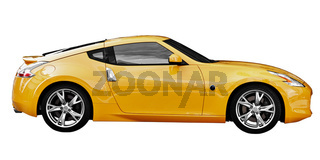 Car - sport coupe on white background