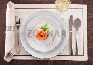 Vol-au-vent with salmon