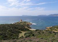 Torre di Pixinni at Cala Segreta near Teulada in Sardinia