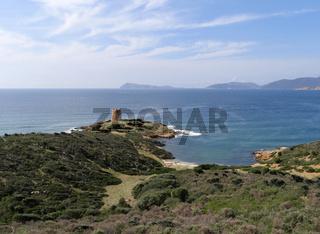 Torre di Pixinni an der Cala Segreta bei Teulada auf Sardinien