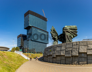 Silesian Insurgents' Monument and .KTW Buildings