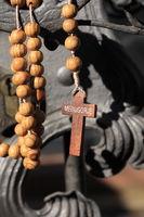 Rosary on the church door