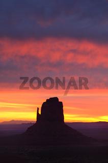 Colorful Sunrise East Mitten Butte