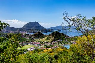 Blick vom Morne Morel Wanderweg, Terre-de-Haut, Iles des Saintes, Les Saintes, Guadeloupe, Kleine Antillen, Karibik.