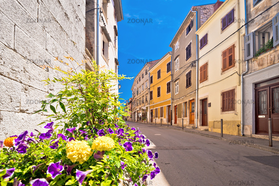 Town of Vodnjan colorful street view