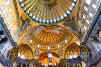 Ceiling interior inside Hagia Sophia