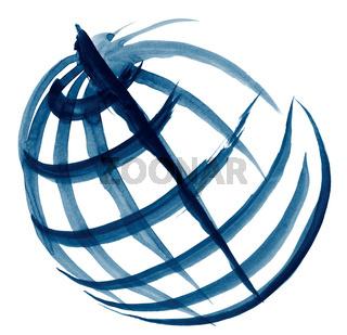 globe illustration sketch