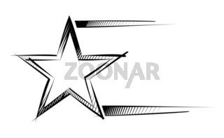 Star on sketch