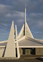 The modern church of Ytri-Njardvikurkirkja, Reykjanesbær, Reykjanes Peninsula, Iceland, Europe