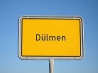 Place name sign Duelmen