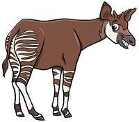 cartoon okapi comic animal character