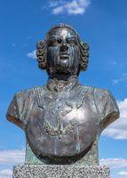 Monument to Baron Munchausen n Bender, Moldova