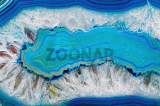 Hintergrund mit einem blauen Achat