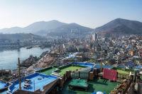 Yeosu city view from Gosodong