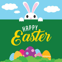 Greeting card for Happy Easter day
