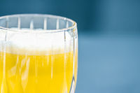 Healthy drink, fruit vitamins and beverage menu, fresh juice in luxury restaurant outdoors, food service and wellness breakfast concept