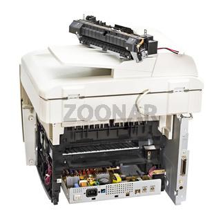 broken laser printer