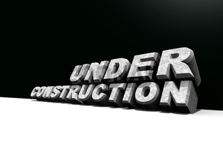 3d illustration of under construction sign