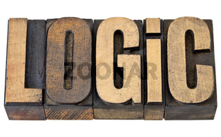 logic word in wood type