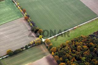 Herbstliche Straßenkreuzung