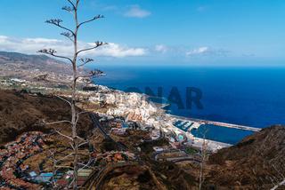 Aerial View of the City of Santa Cruz de La Palma and the Port