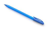 Blue plastic ballpoint pen