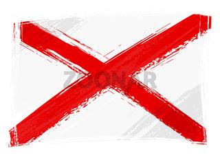 Grunge Alabama flag