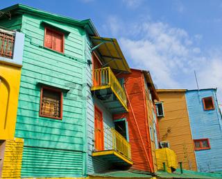 Die bunten Häuser von La Boca