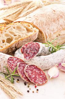 italian salami and bread