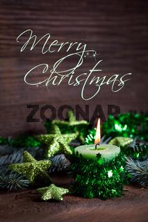 Weihnachtskarte mit Text