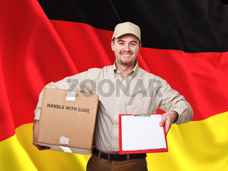 german delivery man