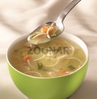 bowl of chiken soup