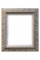 old retro picture frame isolated