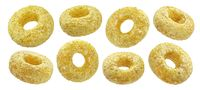 Corn rings isolated on white background