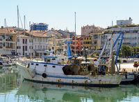 fishing ship in the harbor