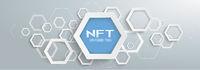 Abstract Futuristic Hexagons NFT Gray Header
