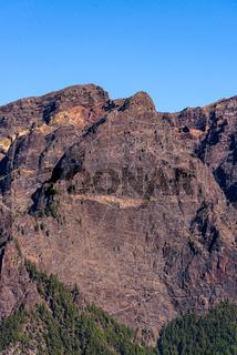 National Park of Caldera de Taburiente. Old Volcano Crater. Roque de los Muchachos