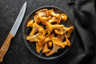 Frozen chanterelle mushrooms