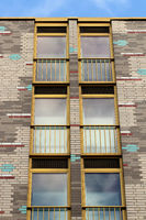 Brick facade in Berlin. Germany