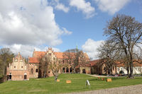 The former Cistercian monastery Chorin in Germany. view from South