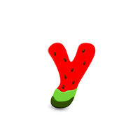 Watermelon letter Y