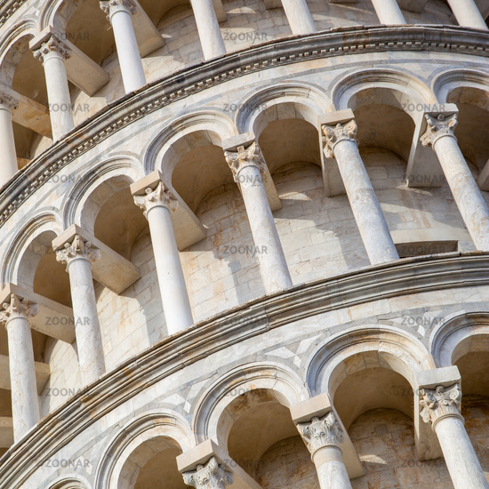 Tiers of The Leaning Tower of Pisa