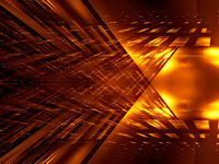 Golden background with rays of light - abstract 3d illustration