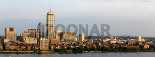 Panoramic view of the Boston Back Bay area