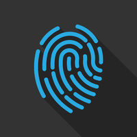 abstract fingerprint symbol or icon