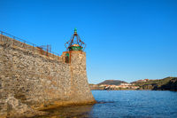 Lighthouse in French village Collioure