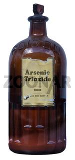 Vintage Glass Bottle Of Arsenic Poison