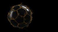 Dark Golden Football