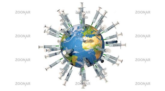 Worldwide vaccination campaign against the Coronavirus